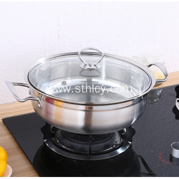 Stainless Steel Household Sauce Pot Thickened Non-stick