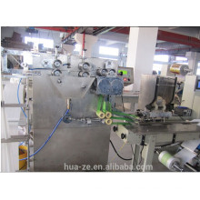 Wet napkin folding packing machine with auto feeder with CE