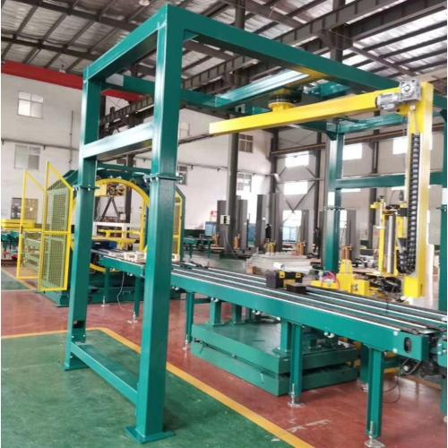 On-line pre-stretch pallet wrapper
