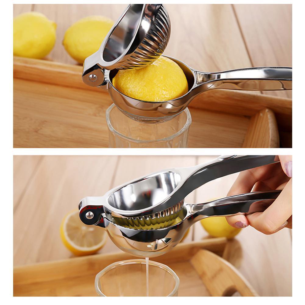 New Lemon Clip Stainless Steel Orange Squeezer Juicer Protable Manual Press Kitchen Fresh Citrus Fruit Heavy Duty Squeeze Gadge