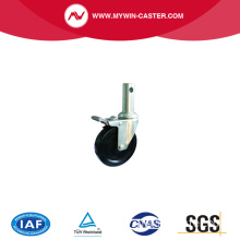 Black Hard rubber scaffolding wheel caster