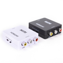 HDMI To RCA AV/CVBS Adapter HD 1080P Mini HDMI2AV Video Converter with USB Power Cable