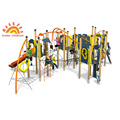 Outdoor HPL Climbing Slide Playground Structure Unit