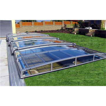 Hard Enclosure Insulation Roof Swimming Pool Glass Roof Cover