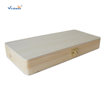 120 PCS Wooden Box For Microscope Slides