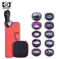 APEXEL 10 in 1 Mobile Phone Lens Kit Fisheye Wide Angle Telescope Macro Camera Lenses For iPhone Samsung Huawei all smartphones