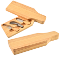 3PCS Cheese Set With Wooden Cutting Board Box