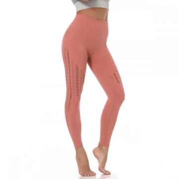 Leasan àrd yoga Waist Hollow Out