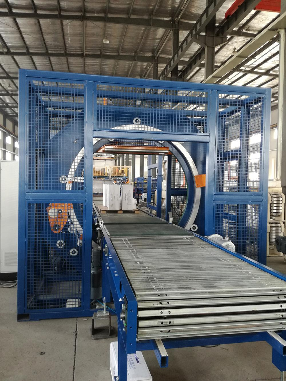 Automatic horizontal ring wrapping machine