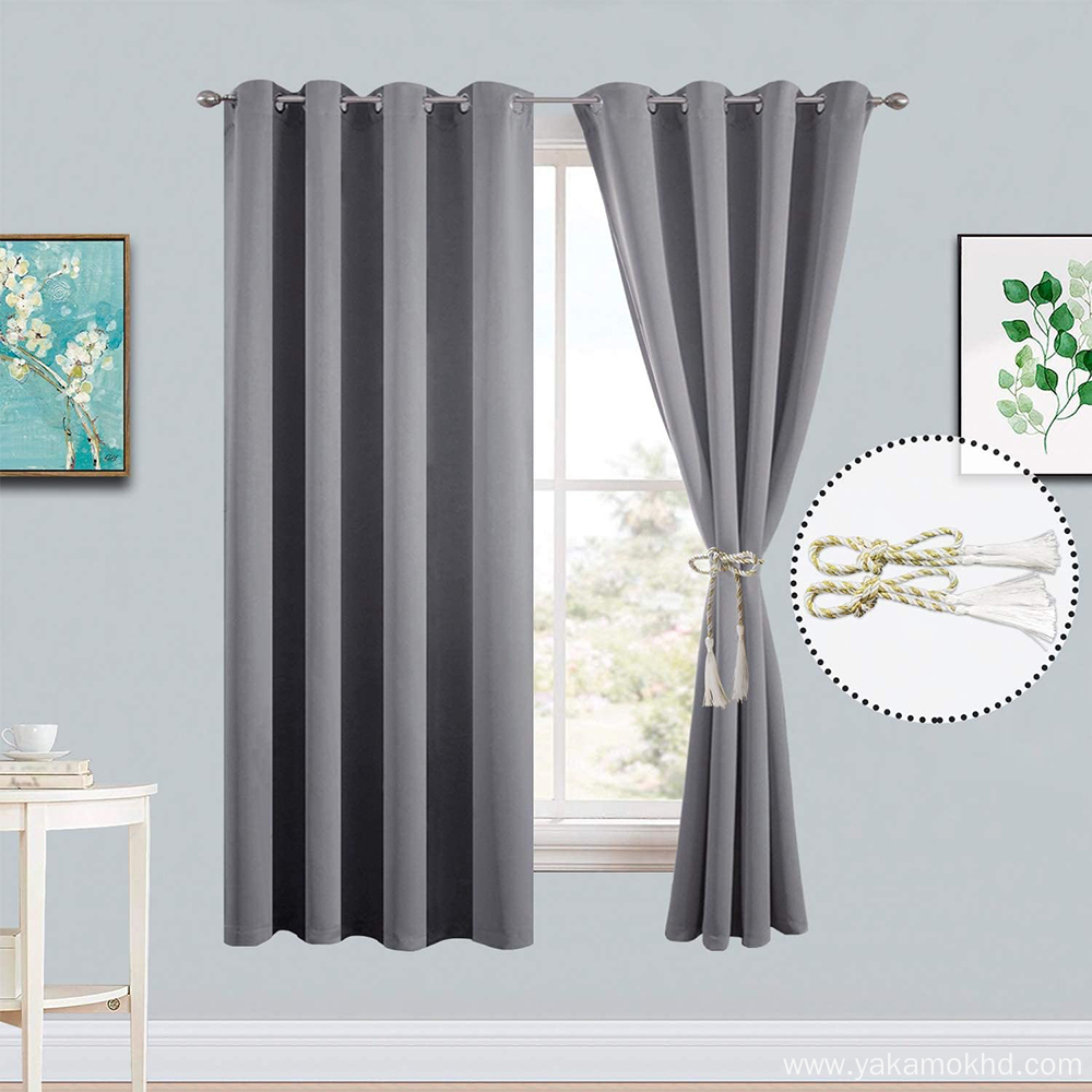 Grey Blackout Curtains 72 Inch Long