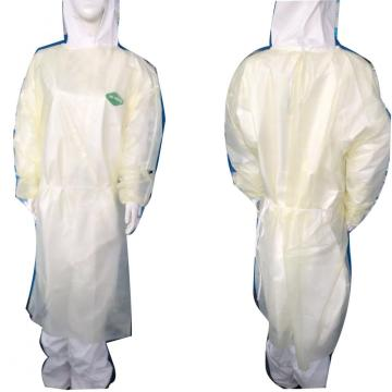plastic white long sleeves surgical gown sterile