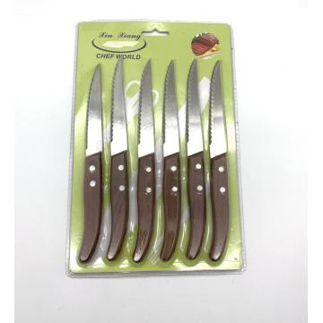 6pcs 4.5inch rosewood steak knife set
