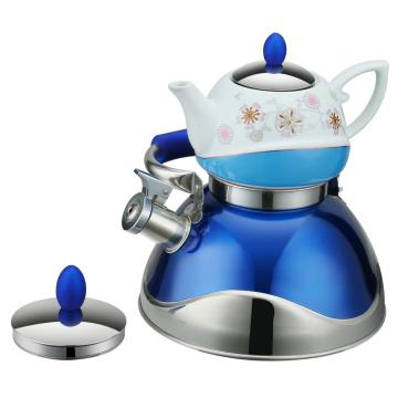 Traditional Painting Blue Tea Pot