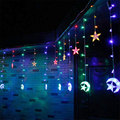 Moon Star Icicle LED Vorhang Lichterkette