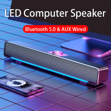 2021 LED TV Sound Bar AUX Wired Wireless Bluetooth Speaker Home Theater Surround SoundBar for PC TV Speakers for Computer