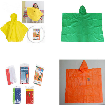Factory Directly Full over printing Kids rain poncho