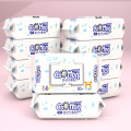 Organic Non-woven Wet Wipes Unscented for Baby