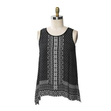 Women Casual Sleeveless U-Neck T Shirt