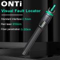 ONTi High Quality Visual Fault Locator 1mW 10mW 20mW 30mW Red Light Fiber Optic Cable Tester 5-30KM Range