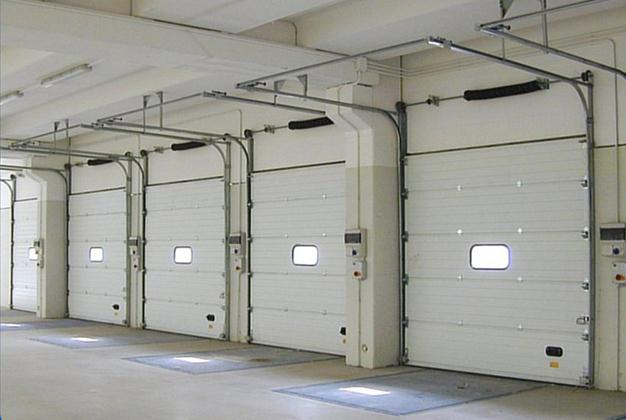 A industrial sectional door