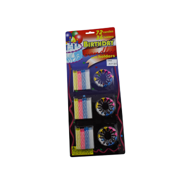 Colorful sprial birthday candles set