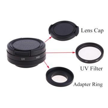 3 In1 37mm / 40.5mm / 52mm / 58mm UV Filter Lens Protector+Adapter Ring + Lens Cap for Go Pro HD Hero 4 /3 plus / 3 /3+