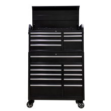Black Top Chest and Rolling Cabinet