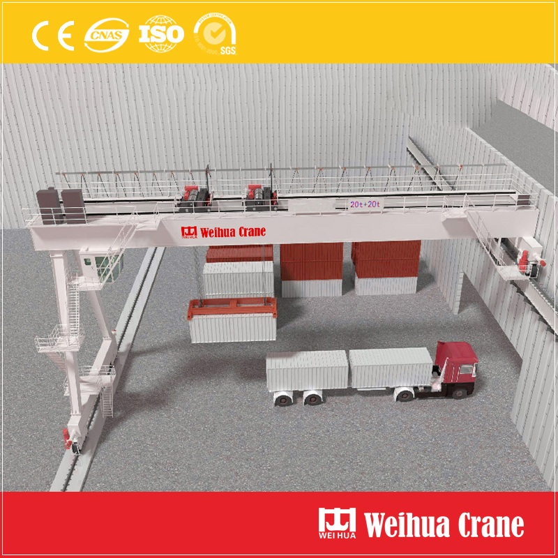 Double Girder Semi Gantry Crane Container