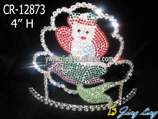 Beautiful Ariel woman and flower colorful tiara