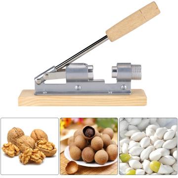 Durable Mechanical Wood Walnut Cracker Nut Opener Kitchen Tools Desktop Wood Base & Handle Labor-saving Machine Nut Clamp Tools