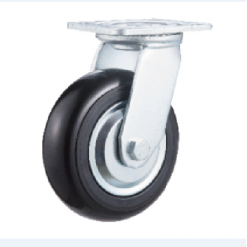 8inch Swivel Black Round PU with Steel Cover Castors