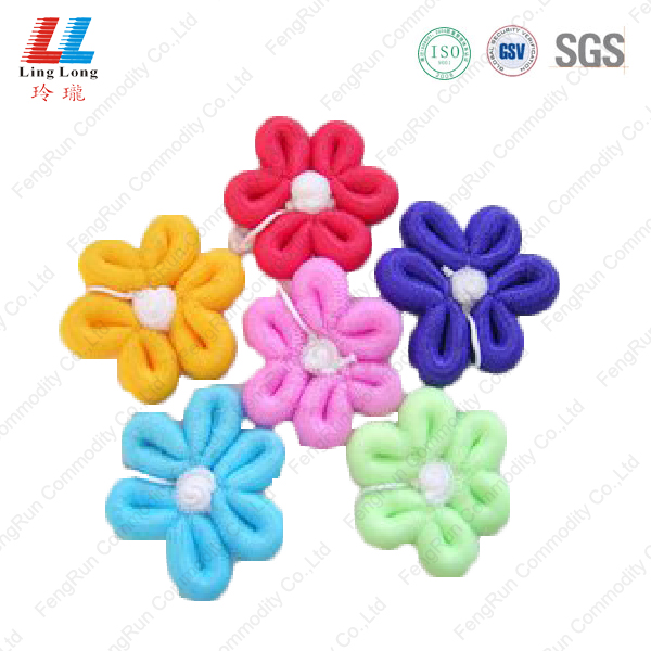 flower body scrub exfoliating shower soap bath sponge