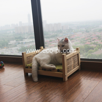 Elevated Wooden Pet Nest Dog Pet Bed