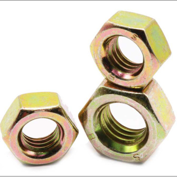 Non--standard Hexagon Thin Yellow Zinc Nut