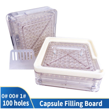 00 # 0 # 1 # 100 Hole Transparent Style Acrylic Manual Capsule Filling Machine Packaging Machine Filling Plate