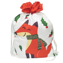 Christmas sack with orange fox pattern
