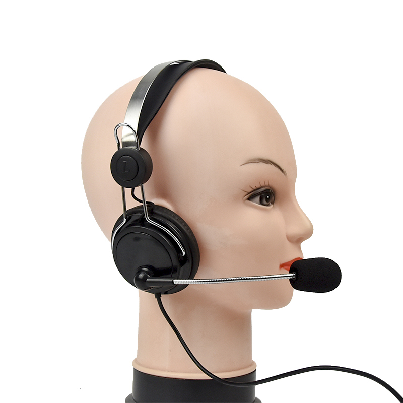 OEM ODM Available Computer USB Headphones with Microphone
