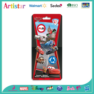 DISNEY&PIXAR CARS blister card 8 pack erasers