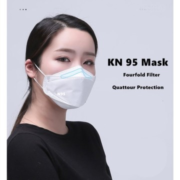 White KN95 mask face mask locking virus