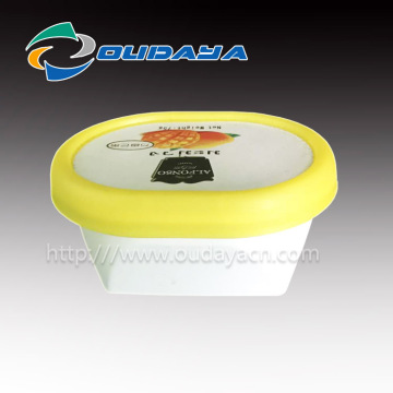 Reusable yogurt container disposable yogurt cup in freezer