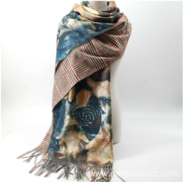warm ladies winter fringe  designer scarf
