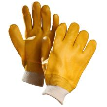 PVC Coated Gloves with Yellow Colour