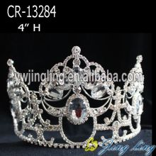 Custom design rhinestone pageant crown for sale