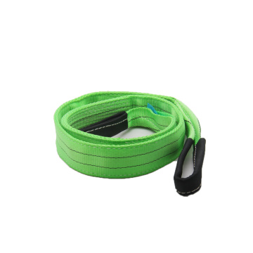 2T Green Polyester Lifting Webbing Sling with CE Certificate