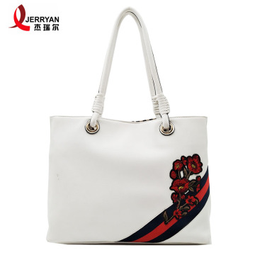 White Designer Soft Leather Shoulder Bags for Womens