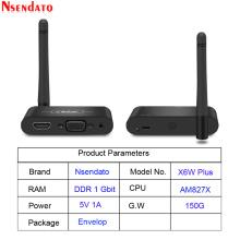 Mirascreen X6W Plus Wireless Miracast 5G 4K Display TV stick adapter 3 in 1 HD VGA AV 1080P wifi Display Receiver Dongle