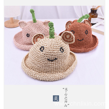 Bear ears with infant sun hat