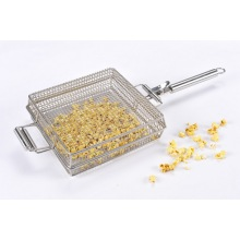 Stainless Steel Mesh Grilling Popcorn Basket