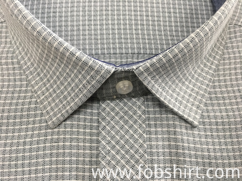 Cotton Yarn Dyed Fabric Men Shirts