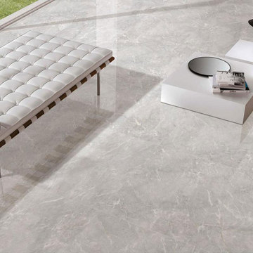 Marble white and brown floor carrara mosaic tiles